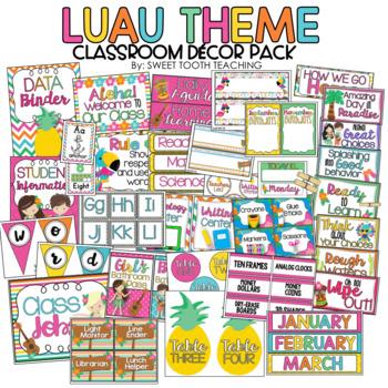 Luau Theme Classroom Decor Pack