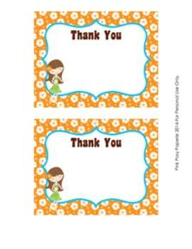 Luau Theme Flat Thank You Note Cards