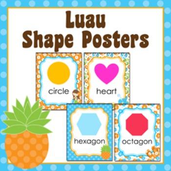 Luau Theme Shape Posters