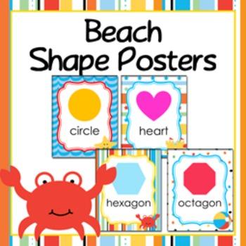 Beach Theme Shape Posters