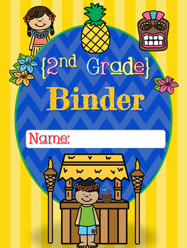 Luau Themed Binder Covers