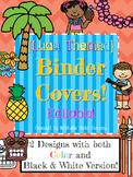 Luau Themed Binder Covers