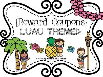 Luau Themed Reward Coupons