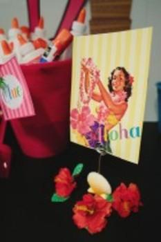 Classroom Decor Luau Vintage Hula Girl Inspirational Print