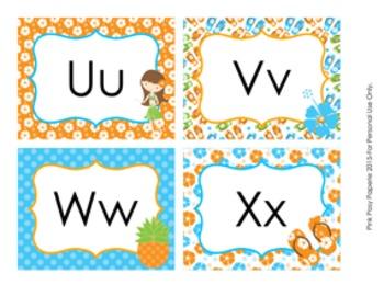 Luau Word Wall Headers