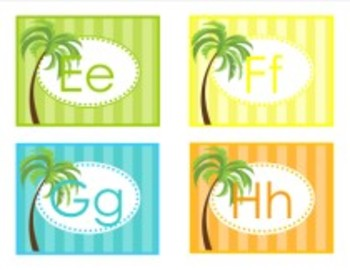 Classroom Decor Luau Word Wall Labels