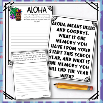 Luau Writing Prompts: Grades 2 - 5