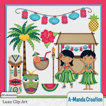 Luau and Hawaiian Clip Art