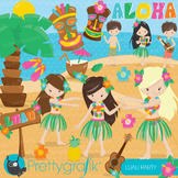 Luau party clipart commercial use, vector graphics, digital - CL656