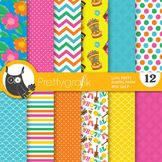 Luau party digital paper, commercial use, scrapbook papers - PS688
