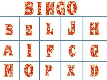 Luau themed alphabet bingo