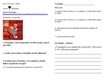 Lucha Libre infografias - differentiated