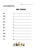 Lucia's Neighborhood ABC order - Journeys 1st Grade
