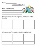 Lucia's Neighborhood Comprehension Questions - Journeys Lesson 4
