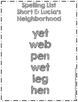 Lucia's Neighborhood Journeys First Grade Spelling Wall BLACK KG Sketch Font