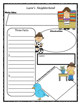 Lucia's Neighborhood Story Map - Graphic Organizer