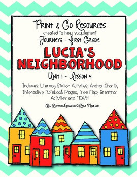 Lucia's Neighborhood - Journeys First Grade Print and Go