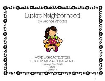 Lucia's Neighborhood - Journeys First Grade Word Work Pack