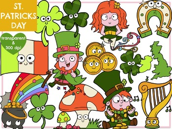 St Patrick's Day & Leprechauns (Digital Clip Art)