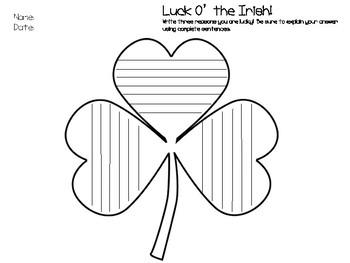Luck O' The Irish Writing