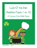 Luck O' the Irish Addition Facts 1 to 10