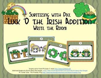 Luck 'O the Irish Addition {Subitizing with Dice}