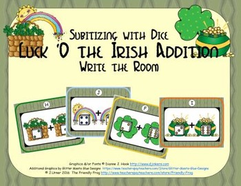 St. Patrick's Day Addition {Subitizing with Dice}