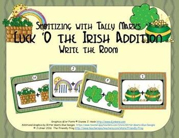 Luck 'O the Irish Addition {Subitizing with Tally Marks}