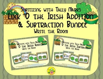 St. Patrick's Day Addition & Subtraction Bundle {Subitizing with Tally Marks}