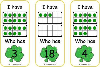 Luck O the Irish Count, Add & Subtract Bundle with 10 & 20 Frames {Subitizing}