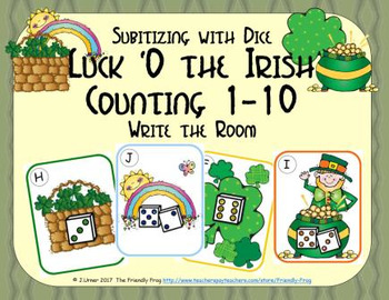 Luck 'O the Irish Counting 1-10 {Subitizing with Dice}