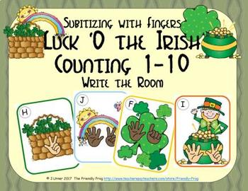 St. Patrick's Day Counting 1-10 {Subitizing with Fingers}