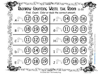 Luck 'O the Irish Counting 11-20 {Subitizing with Tally Marks}