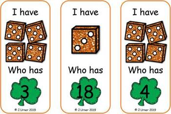 St. Patrick's Day Counting 1-20 Bundle {Subitizing with Dice}