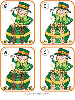 Luck 'O the Irish Counting 1-20 Bundle {Subitizing with Fingers}