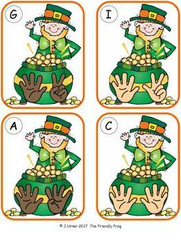 St. Patrick's Day Counting 1-20 Bundle {Subitizing with Fingers}