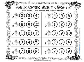 Luck O the Irish Counting, Addition & Subtraction with Ten Frames {Subitizing}