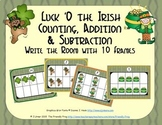 St. Patrick's Day Counting, Addition & Subtraction with Ten Frames {Subitizing}