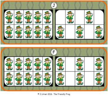 Luck O the Irish Counting with 20 Frames {Subitizing}