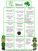 Luck O' the Irish Gifted/Enrichment Activity Menu