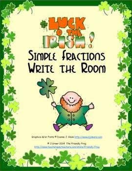 Luck 'O the Irish Simple Fractions: Write the Room
