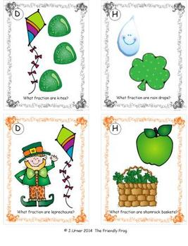 St. Patrick's Day Simple Fractions: Write the Room
