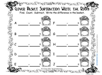 St. Patrick's Day Subtraction {Subitizing with Tally Marks}