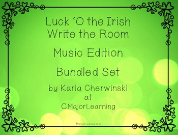 Luck 'O the Irish Write the Room SOLFA Music Edition Bundled Set (2 sets)