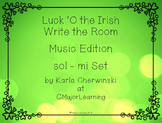 Luck 'O the Irish Write the Room sol-mi SOLFA Music Edition