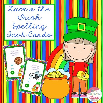 Luck o' the Irish Spelling Cards