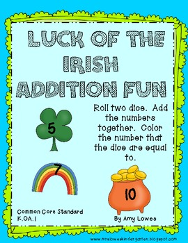 Luck of the Irish Addition Fun {FREEBIE}