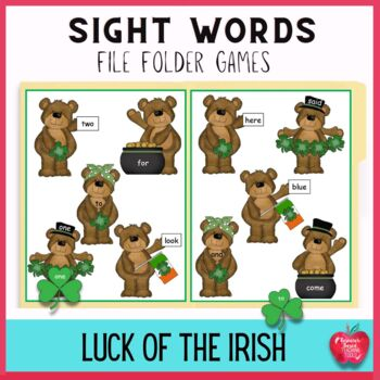 Sight Word File Folder Games: for Saint Patrick's Day