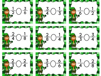 Luck of the Irish: Comparing Fractions Game