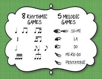 Luck of the Irish MEGA BUNDLE Write the Room Melody/Rhythm - 13 GAMES!